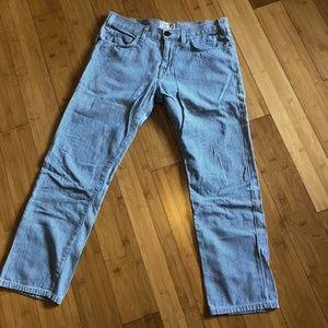 Current/Elliot Boyfriend Jeans in stripe size 25